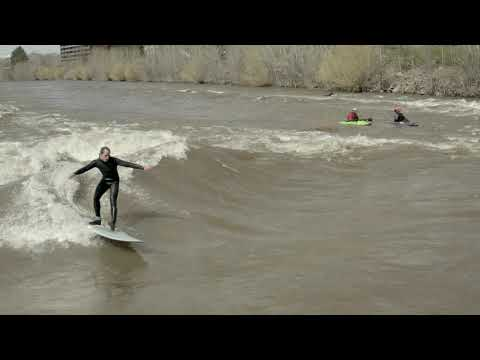 Earth Day 2019 River Surfing in Missoula, MT