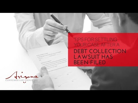 Tips For Settling Your Case After A Debt Collection Lawsuit Has Been Filed