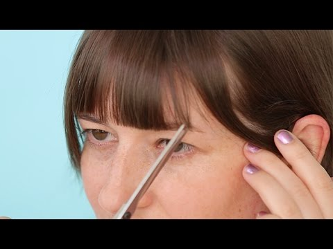 How To Cut Your Own Bangs Straight Bangs Youtube