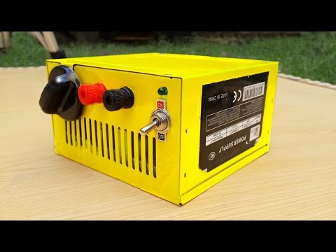 How To Make Adjustable Voltage Power Supply From Computer CPU Power Supply DIY Bench Power Supply