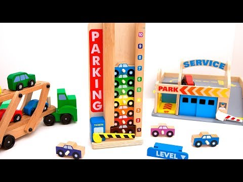 Learn How to Count to 10 with Stacking Cars Parking Garage!