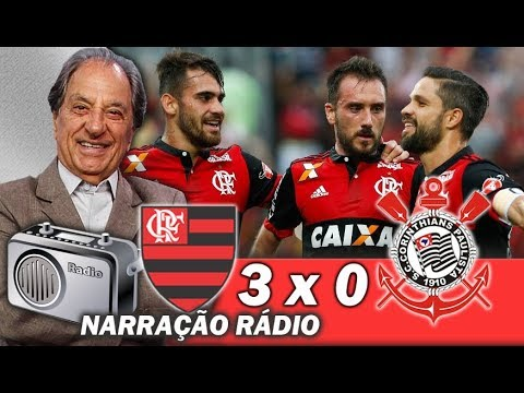 Flamengo 3 x 0 Corinthians # Brasileiro 2017 # Gols na voz