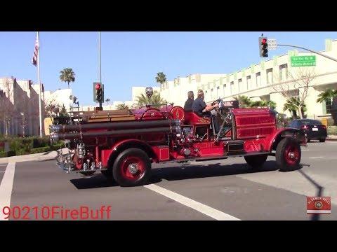 Beverly Hills Fire Dept. Engine 1 & Rescue 1 Responding + Bonus Clip