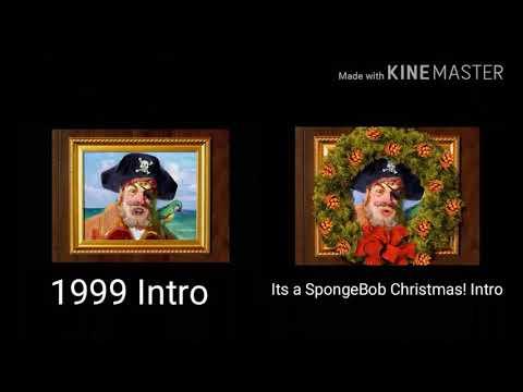 Spongebob SquarePants - 1999 Intro + It's a SpongeBob Christmas! Intro comparison