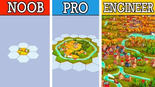 Engineering the GREATEST CÏTY in new building strategy puzzle game Dorfromantik!
