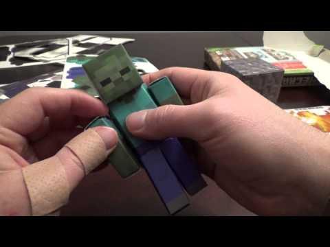 Minecraft Papercraft Overworld Hostile Mobs Unboxing