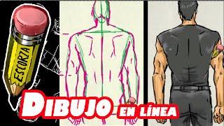 """Como dibujar el cuerpo 5 """"masculino de espalda"""""""