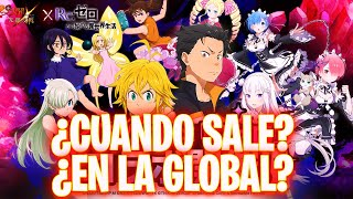 🤔¡¿CUANDO SALE la COLLAB de RE ZERO en la GLOBAL?!🤔 Seven Deadly Sins: Grand Cross