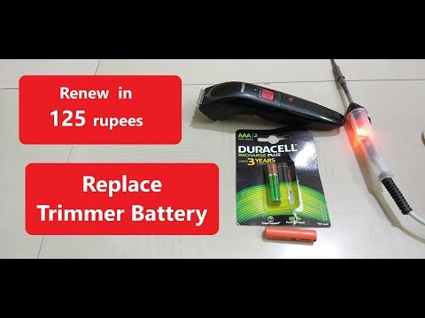 Replace Trimmer Battery,Repair Beard Trimmer,Philips QT4011/15 corded & cordless Philips BT3211/15