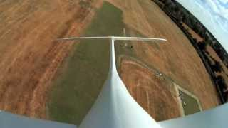 Mobius Cam rides Graupner Hotliner Glider - Hard Landing ;-(