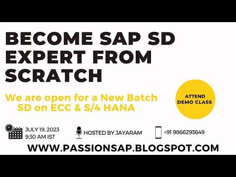 SAP SD Sales & Distribution Online training by Jayaram Batch