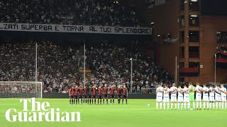 Genoa fans hold minute's silence before first match since bridge collapse