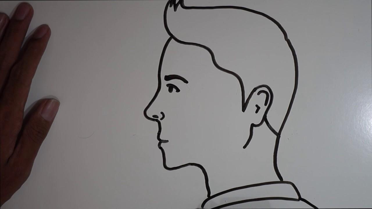Cara Menggambar Wajah Tampak Samping Untuk Pemula Youtube