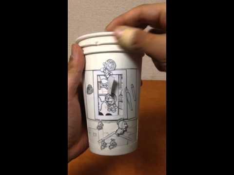 ドラえもんの紙コップ漫画 Doraemon three papercup cartoon しんらしんげ