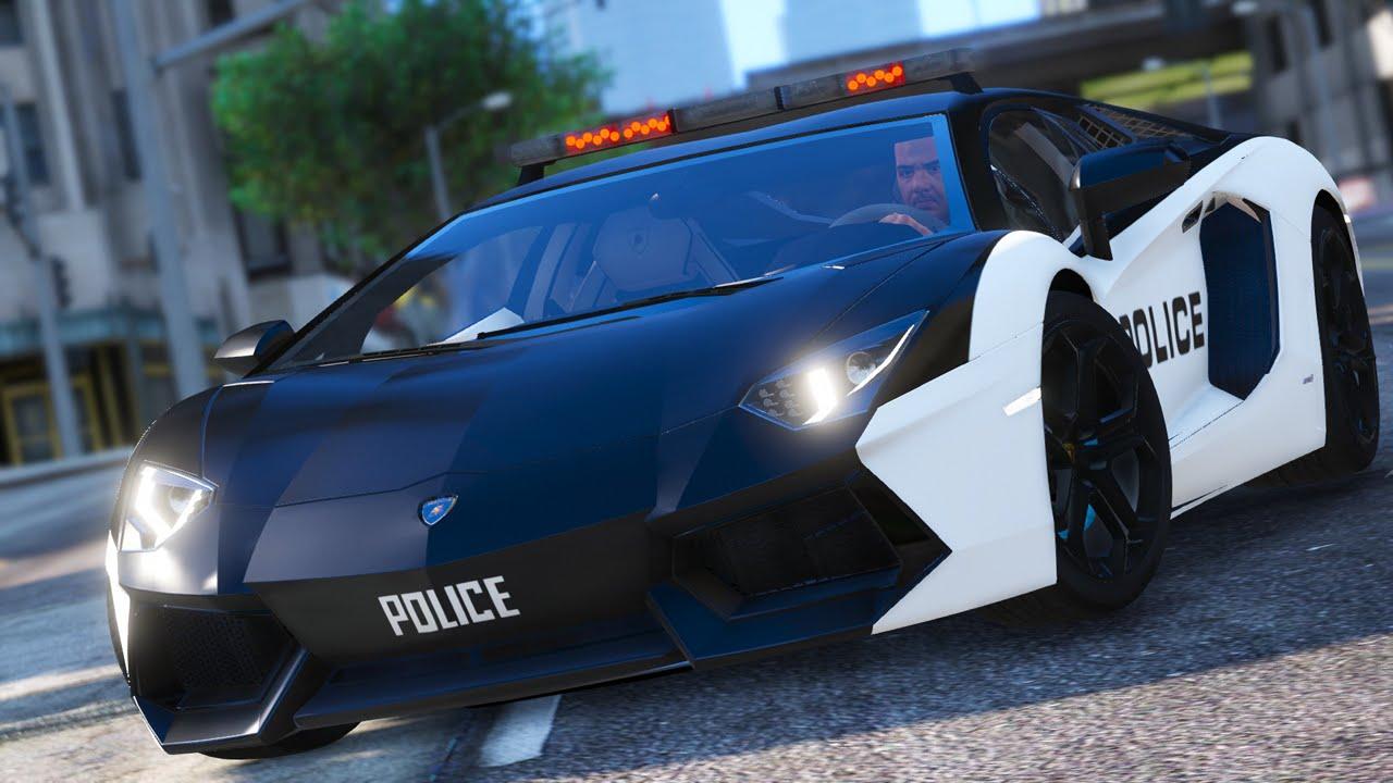 Police Lamborghini Aventador Gta 5 Car Mod Youtube