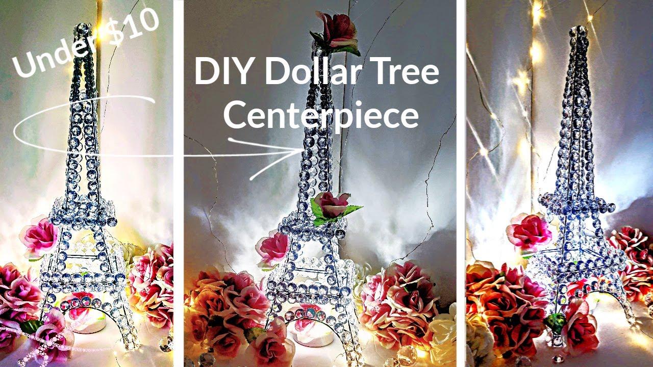 Diy Glam Decor Centerpiece - Crystal Eiffel Tower - Dollar Tree DIY Wedding  Centerpiece Under $6