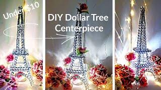 Diy Glam Decor Centerpiece - Crystal Eiffel Tower - Dollar Tree DIY Wedding Centerpiece Under $10