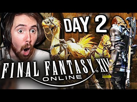 Asmongold Epic Journey to His First FFXIV MOUNT   DAY 2