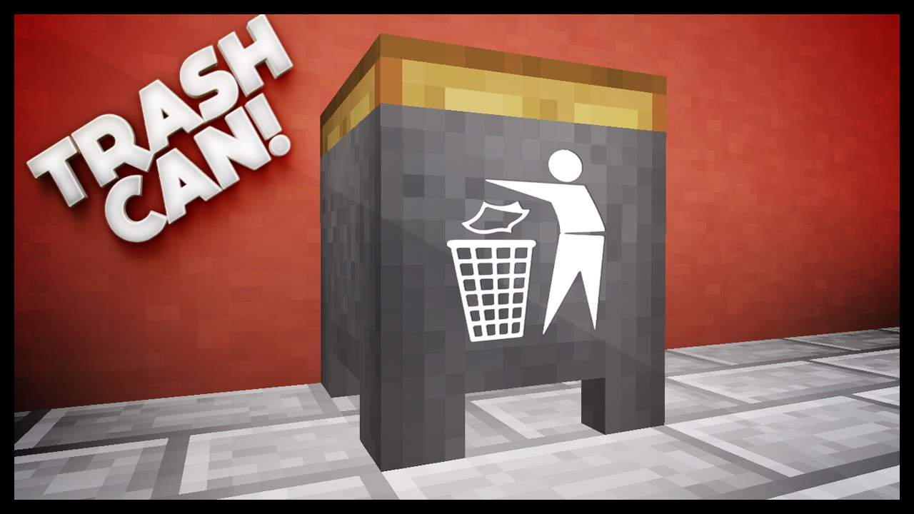 Minecraft How To Make A Working Trash Can Youtube