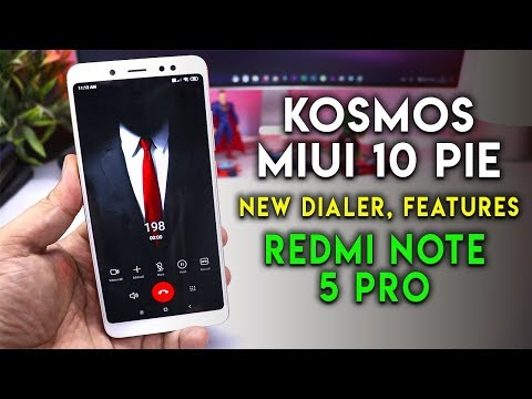 Kosmos MIUI 10 Pie ROM With NEW DIALER Features Redmi Note 5 Pro