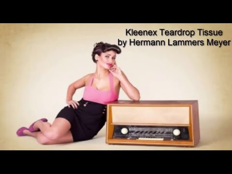"Hermann Lammers Meyer ""Kleenex Teardrop Tissue"""