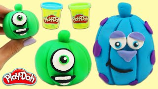 How to Make Cute Play Doh Monsters Inc. Pumpkins | Fun & Easy DIY Play Dough Arts and Crafts!