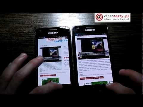 Porównanie: Samsung Galaxy S Advance vs Samsung Galaxy S 2 - pojedynek videotesty.pl