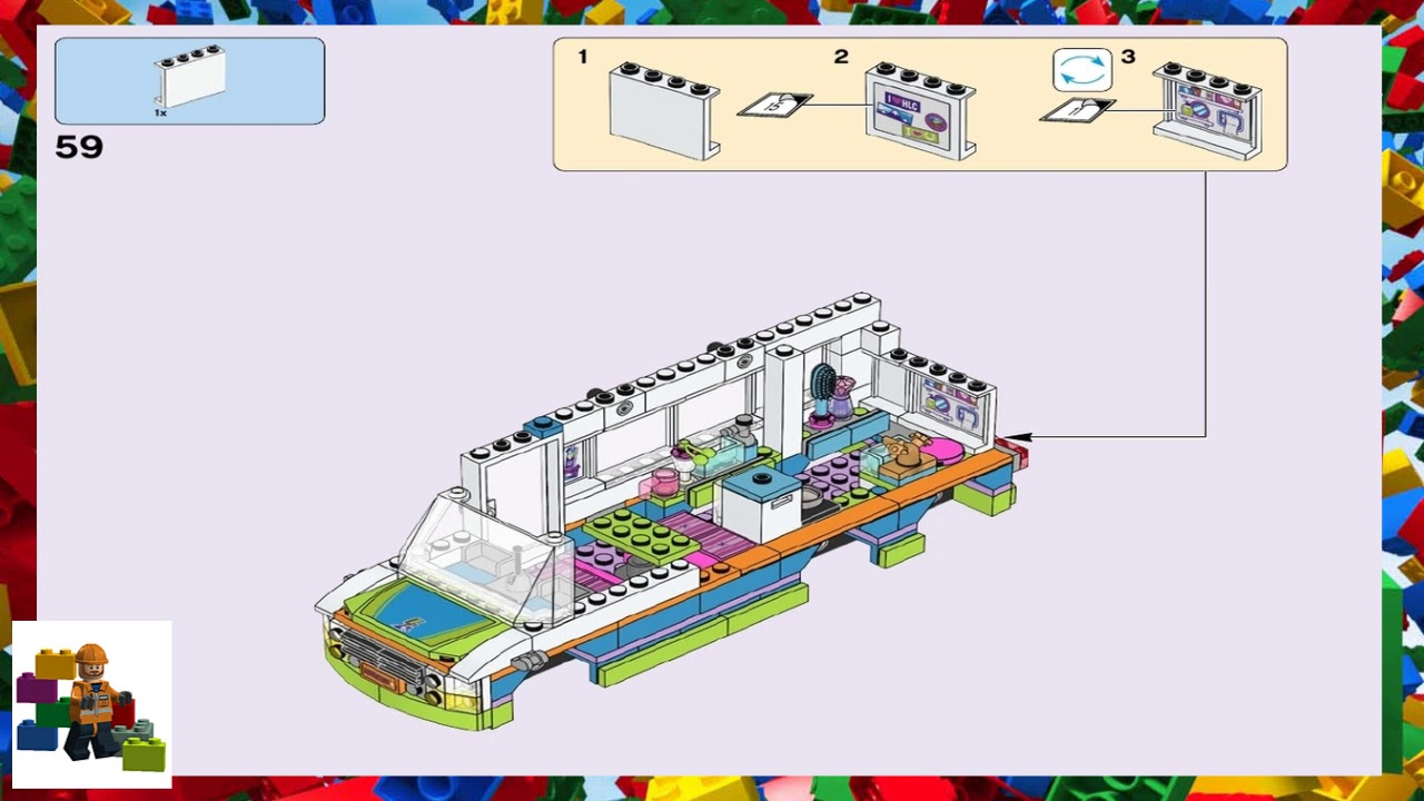 Lego Instructions Friends 41339 Mias Camper Van Youtube