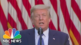 Donald Trump Delivers Statement Amid George Floyd Protests | NBC News