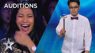 JUDGES Can't Stop Laughing At Ichikawa From Japan!! | Asia's Got Talent 2019 on AXN Asia