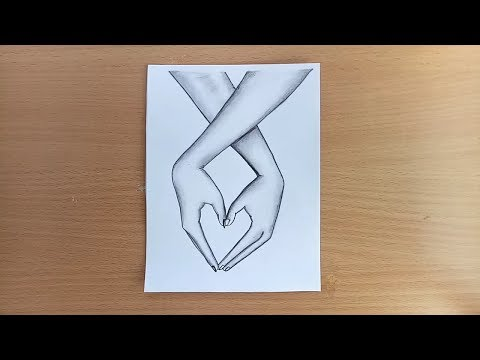 How to draw Lovely Hands with pencil sketch.