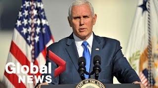 VP Mike Pence announces Trump