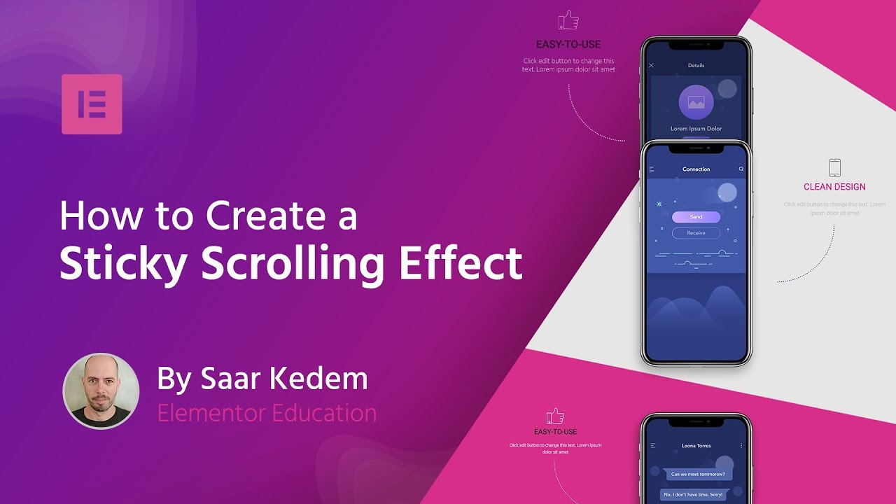 ⚡ Create a Sticky Scrolling Effect Using Elementor