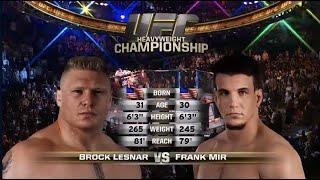 Free Fight: Brock Lesnar vs Frank Mir 2