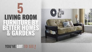 Top 10 Better Homes & Gardens Living Room Furniture [2018]: Better Homes and Gardens Wood Arm Futon