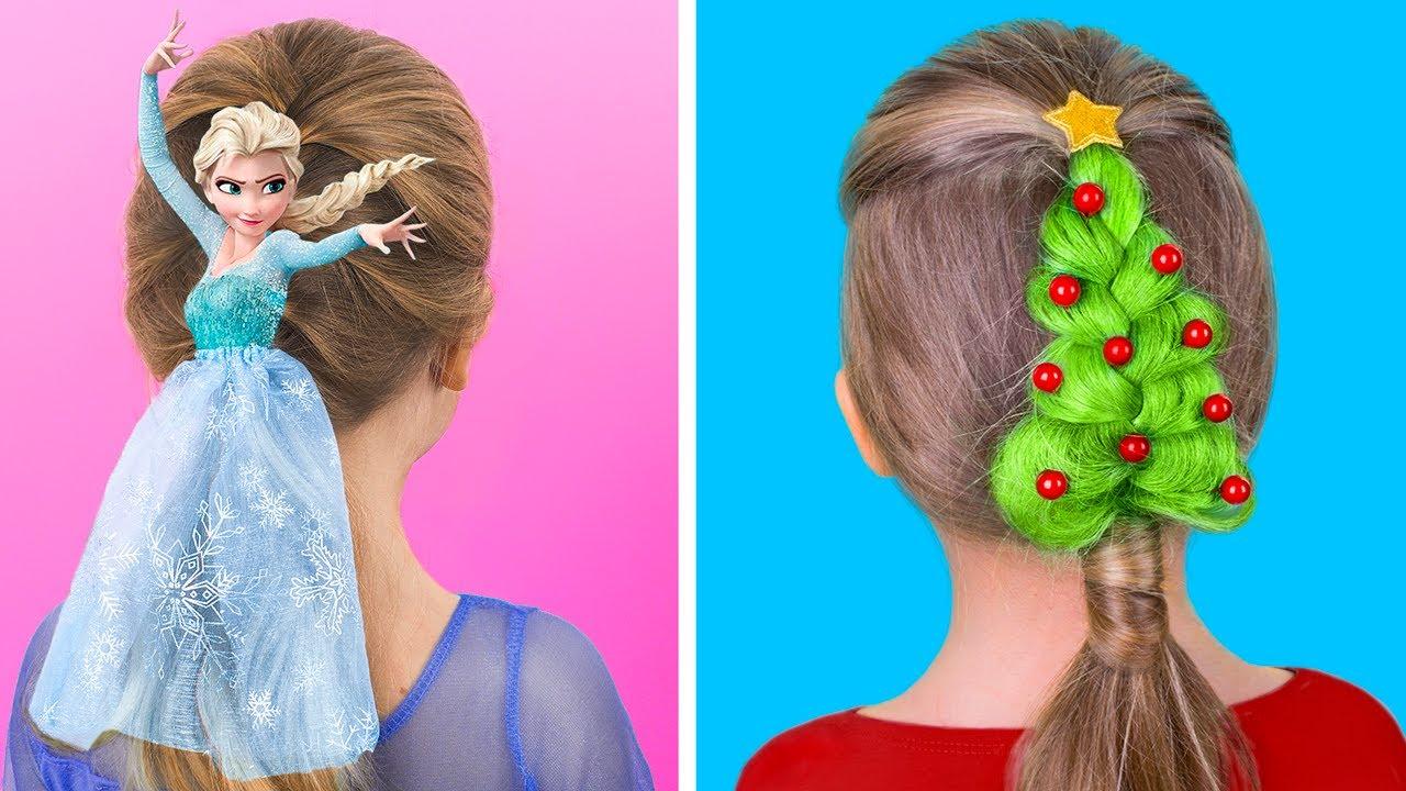 10 милых причёсок для девочек на Новый год