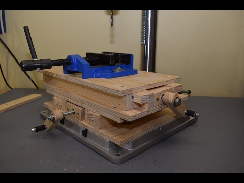 Making CNC XY Milling Table, Part 1: Building the base and testing it on the drill press
