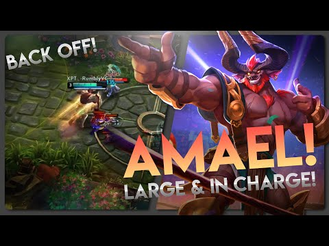 NEW HERO AMAEL IS CRAZY FUN😲!! Vainglory 3v3 - Amael |Captain| Gameplay