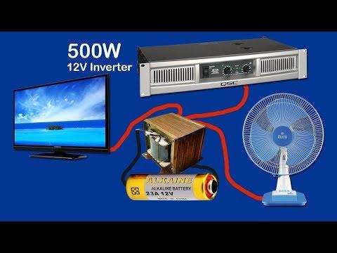 How to make inverter 12V to 220V-240V  500W (part2)