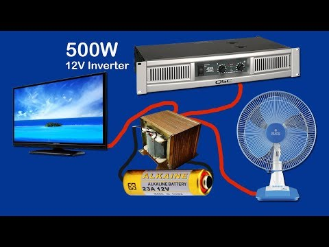How to make inverter 12V to 220V-240V  500W (part2)