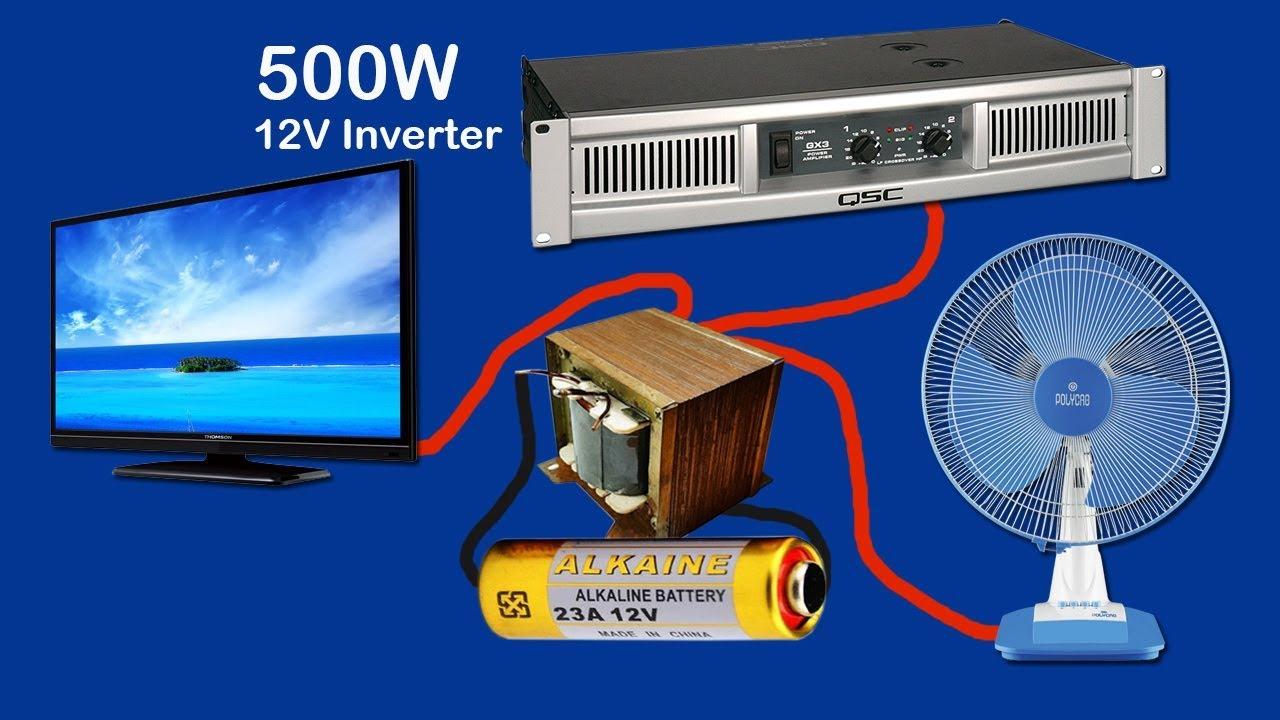 How To Make Inverter 12v To 220v-240v 500w  Part2