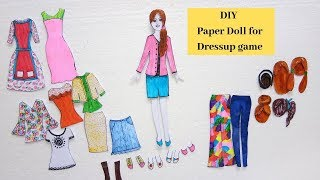 #paperdoll #papercraft  #dressupdoll | Doll with Many Dresses | Aloha Crafts