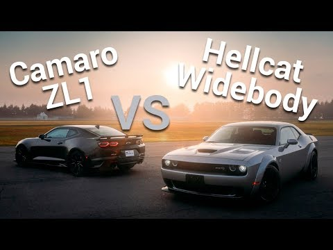 Dodge Challenger SRT Hellcat Widebody VS Chevrolet Camaro ZL1 – Frente a Frente | Autocosmos