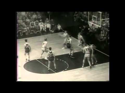 1958 NBA Finals Game 6. St. Louis Hawks vs. Boston Celtics. Bob Pettit with 50 Points