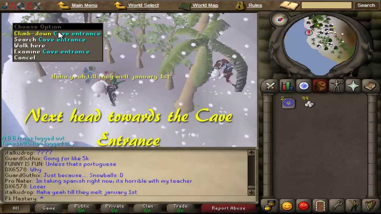 Old School Runescape 2007 - Christmas Event Guide - YouTube