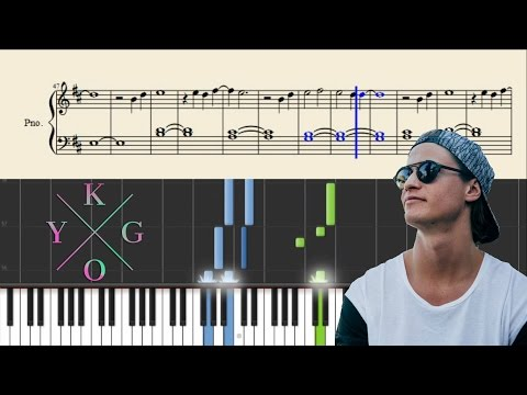 Kygo - Firestone - Piano Tutorial + SHEETS