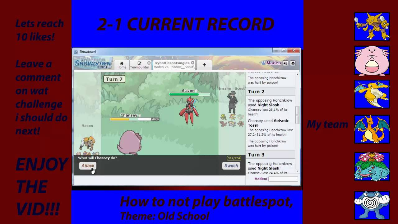 how to play pokemon showdown at school