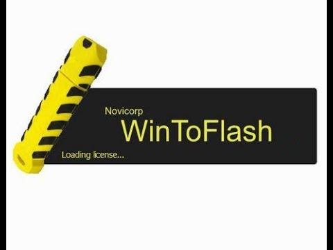 создание установочной флешки с помощью Novicorp WinToFlash Business