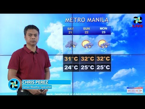 Public Weather Forecast Issued at 4:00 AM October 20, 2017