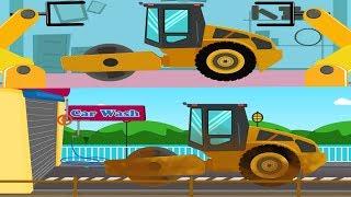 Road Roller | Car Garage | Car Wash | Construction Vehicle